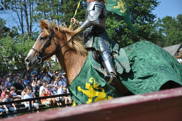 RoundTable Production's jousting horses at the Michigan Renaissance Festival