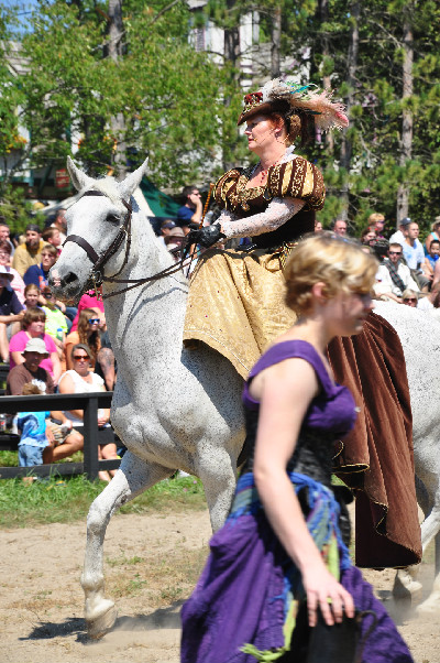 RoundTable Production's jousting horses at the Michigan Renaissance Festival