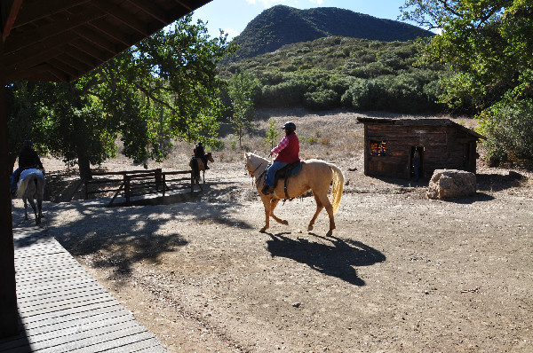 trail riders at Paramount Ranch in California