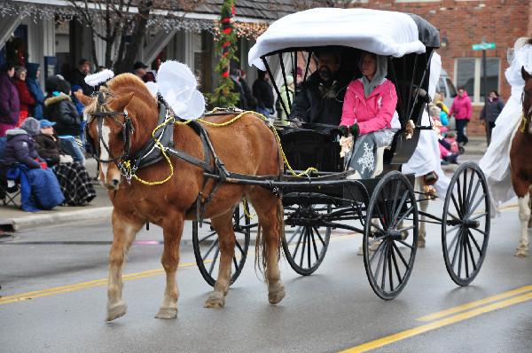 Lexington Michigan Old Fashioned Chrsitmas Horse Parade
