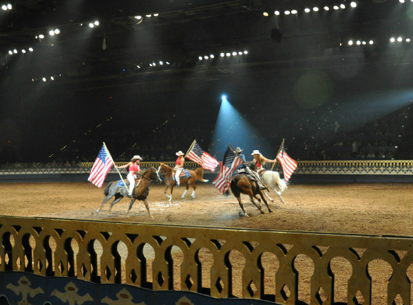 The exuberance and skill of the equestrians