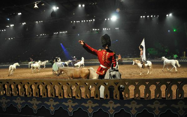 Equestrian entertainment Arabian Nights dinner show In Orlando Florida