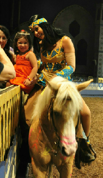 Equestrian entertainment Arabian Nights dinner show In Orlando Florida
