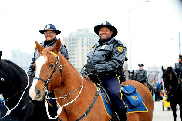 Detroit mounted police, an equestrian police unit
