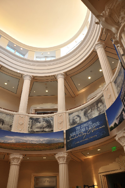 The rotunda of the National Cowgirl Museum and Hall of Fame