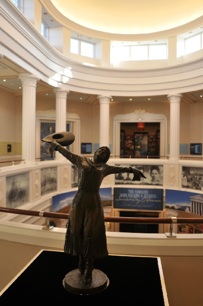The rotunda at the National Cowgirl Museum and Hall of Fame.