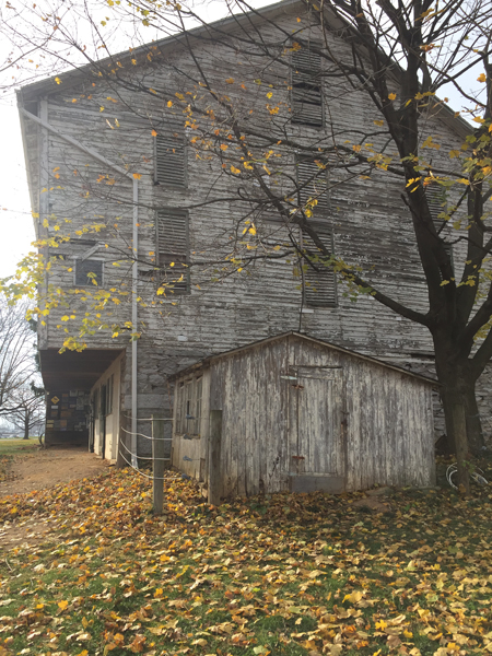 before photo of bank barn taken before restoration