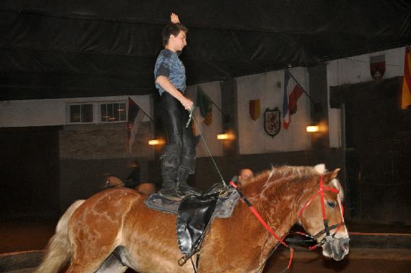 Trick rider Orest Sosnivka atop Bubba