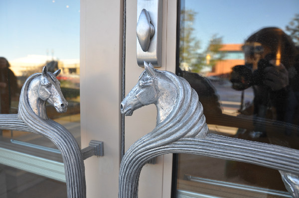 Horsey handles at the National Cowgirl Hall of Fame and Museum