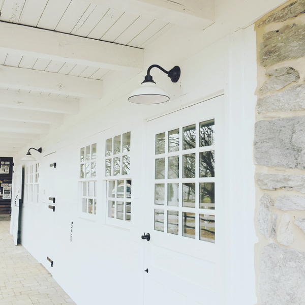 bank barn restoration light fixtures white paint