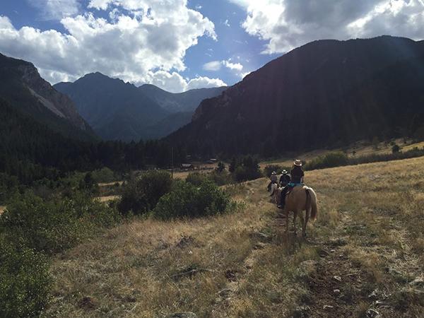 horseback riding at 63 ranch montana