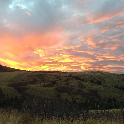 63 Ranch sunset Montana