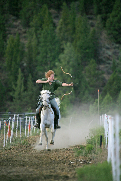 Mounted archer Katie Morwen Stearns