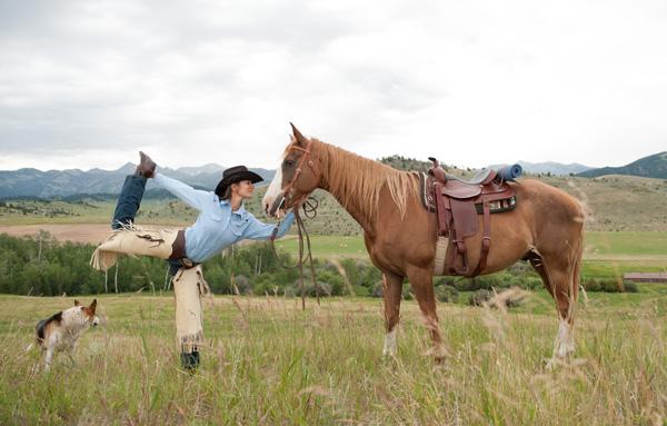 big sky yoga horse montana