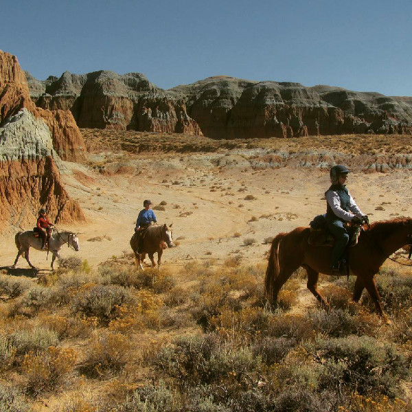 Blue Sky Sage Horseback riding wyoming women