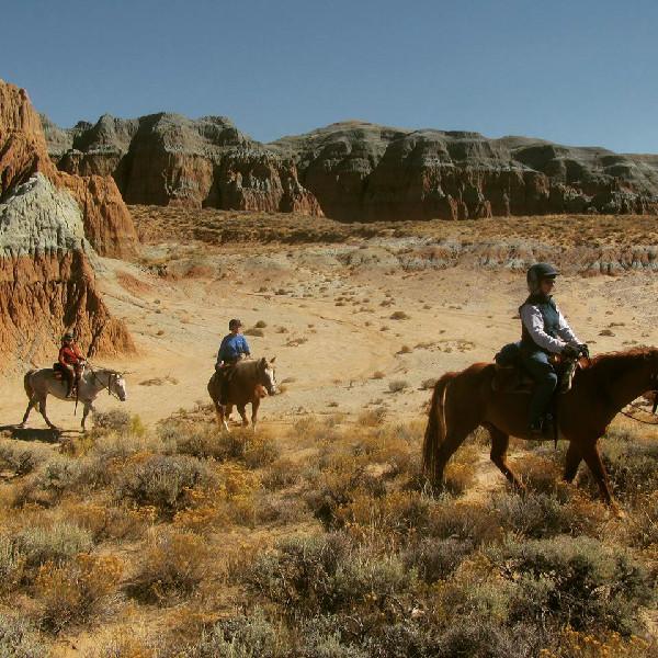 Blue Sky Sage Horseback riding wyoming women