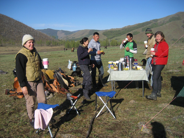 breakfast in Mongolia