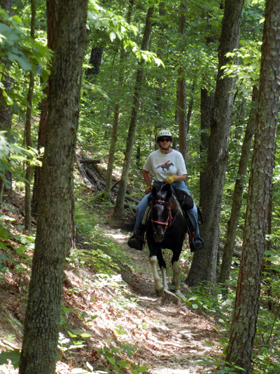 brushy creek horseback missouri trails