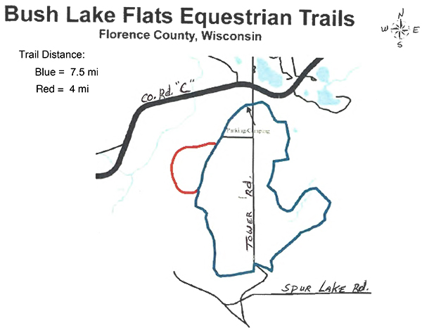 Bush Lake Flats Equestrian Trails Map