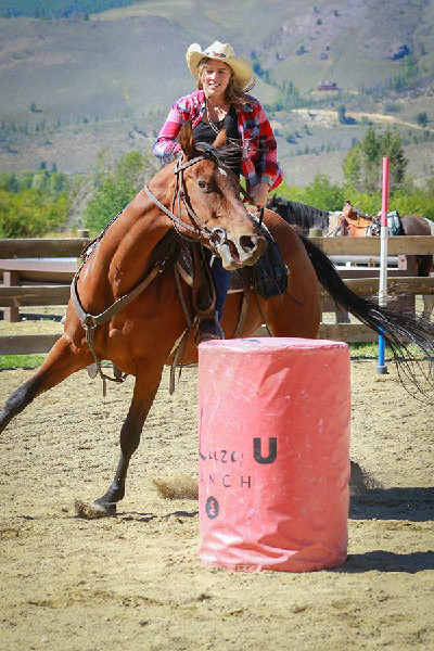 C Lazy U Ranch barrel racing