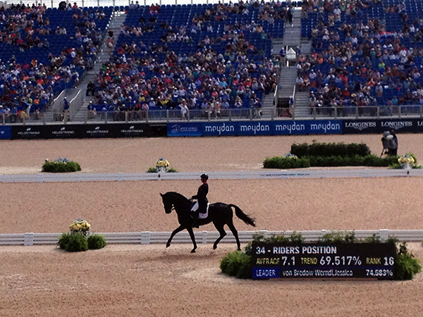 Carl Hester riding at WEG