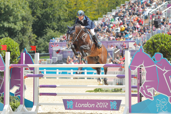 Holsteiner stallion Casall he is competing at the London Olympics with Rolf Goerau Bengtsson.