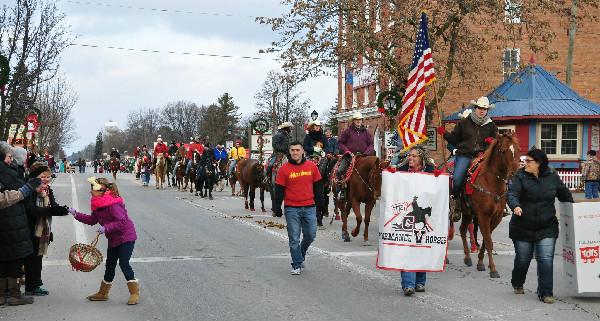 Christmas horse parade candy Michigan Lexington