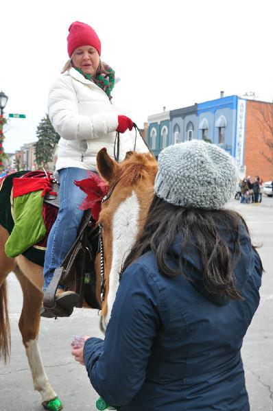 Christmas horse parade michigan