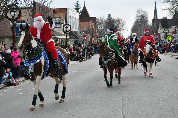 Christmas Horse Parade Lexington Michigan