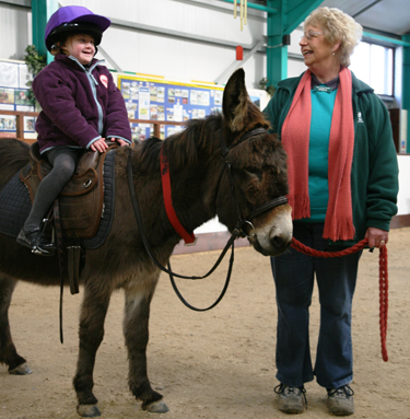The Donkey Sanctuary's Donkey Assisted Therapy. Photo credit The Donkey Sanctuary.