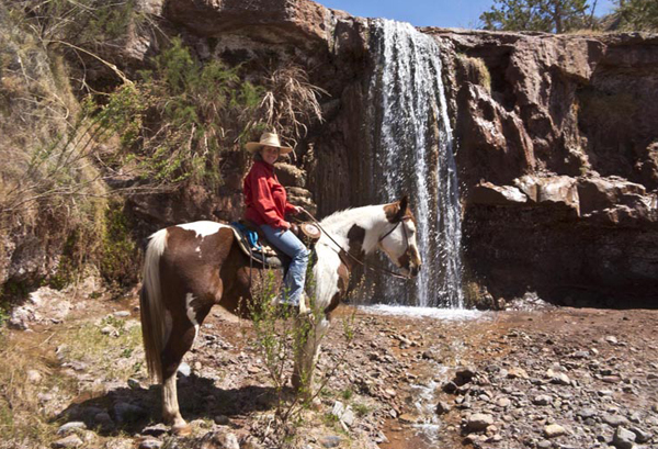 horseback riding to waterfalls new mexico