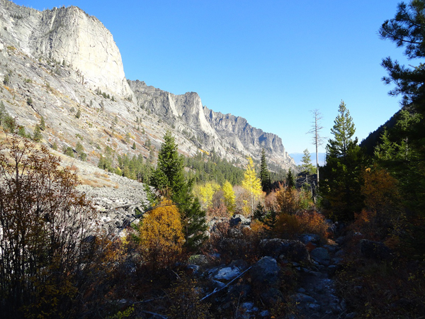Eastward out of Blodgett Canyon