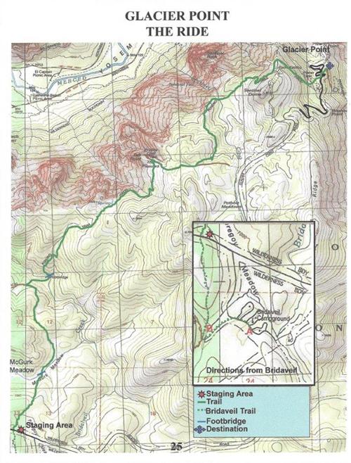 glacier point horse trails map yosemite