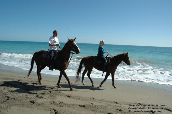 horseback riding on the beach fort pierce florida