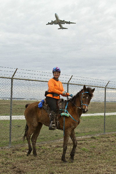 Darolyn Butler of Cypress Trails at the Airport Express Endurance Ride