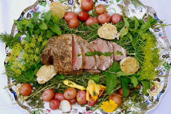 Dawn Harris Brown's Hay Roasted Spring Lamb