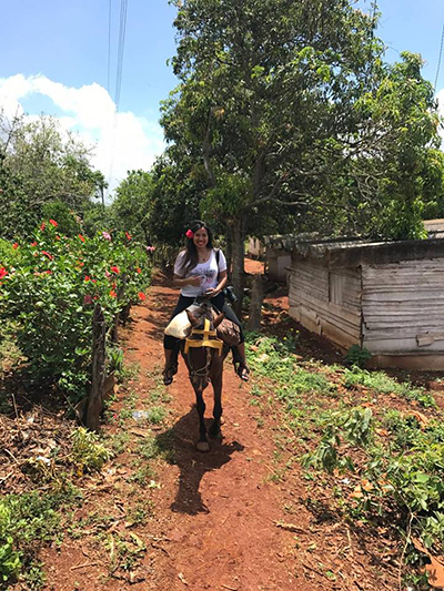Cuba horseback riding Vinales Jeannette Ceja