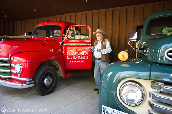 Owner Karl Weber collection of classic trucks is a familiar sight at the ranch