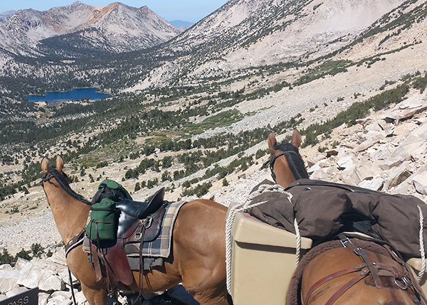 Kearsarge Pass is in the Sierra in southern California horseback