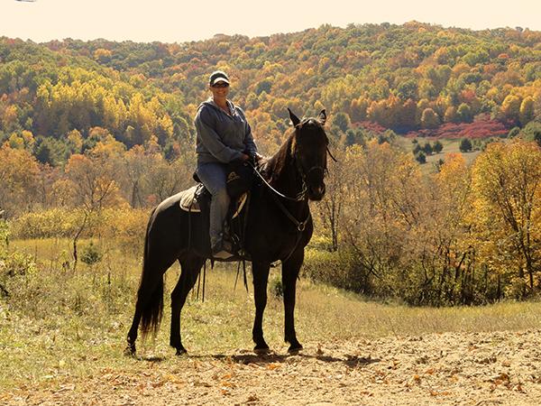 Kickapoo Valley Reserve Fall Colors Horseback