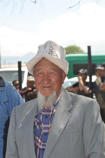 Kyrghyz spectator Bishkek hippodrome horse event