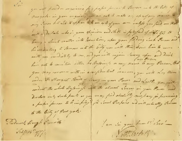 Letter from Sackett to Ludington