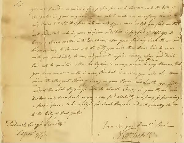 Letter from Sackett to Ludington