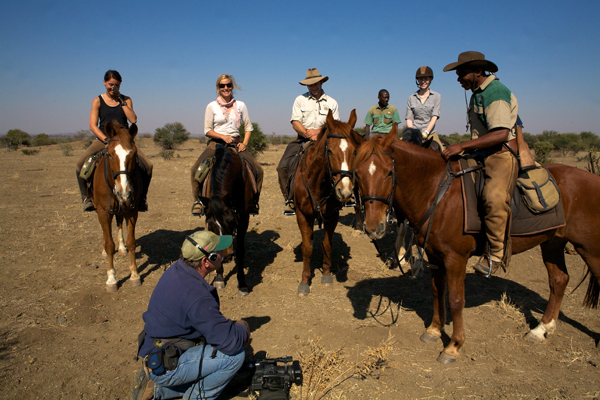 Equitrekking team in Botswana