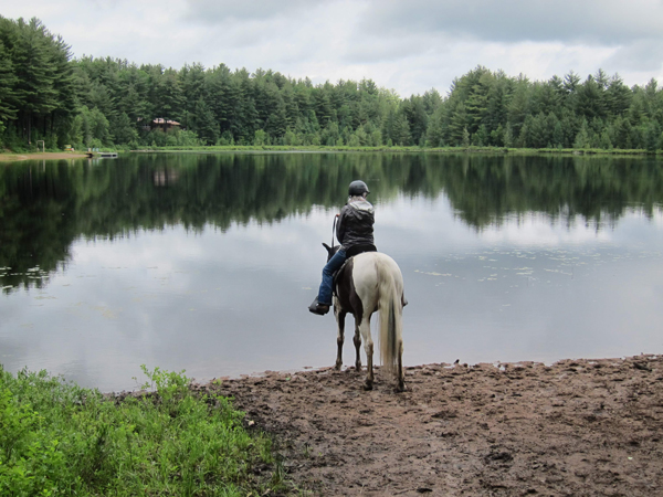horseback riding at little otter lake new york