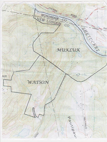Map of Sprague Land Preserve Connecticut