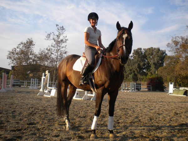 Megan Cavan and her OTTB, Cam
