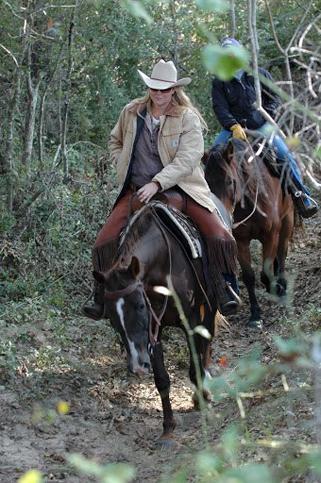 California native, Neely Walker enjoying the scenery of Louisiana trails