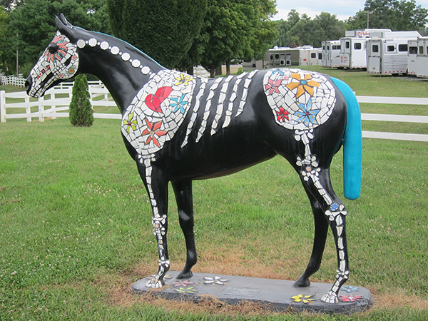 painted horse statue at virginia horse center