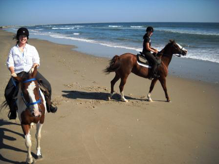 Outer Banks horse riding on beach